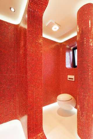 Retro badrum - dusch
