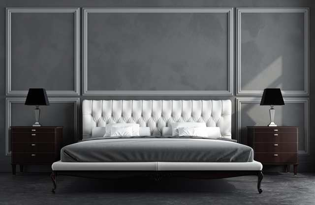 färgsättning sovrum - vita sängdetaljer
