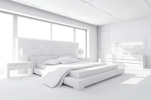 Färgsättning sovrum - enhetligt vitt