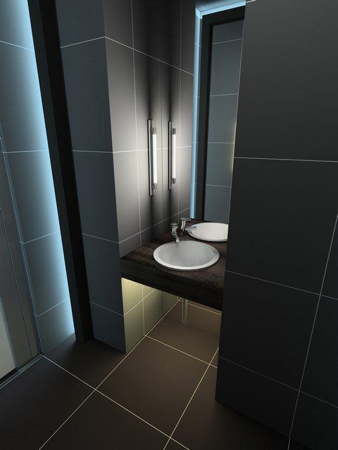 Riktat ansiktsljus - modern belysning i badrum