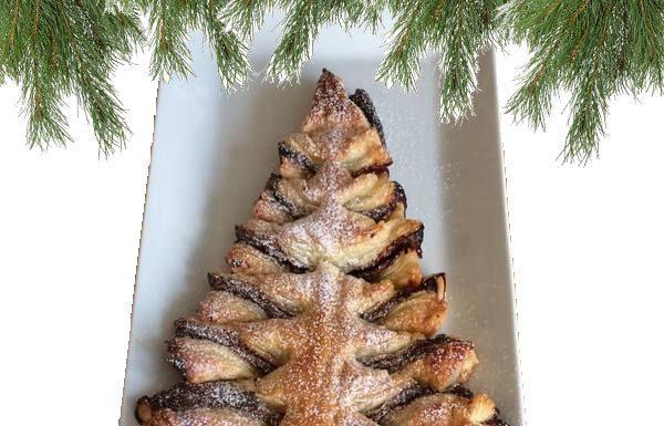 Julgranskaka med nutella