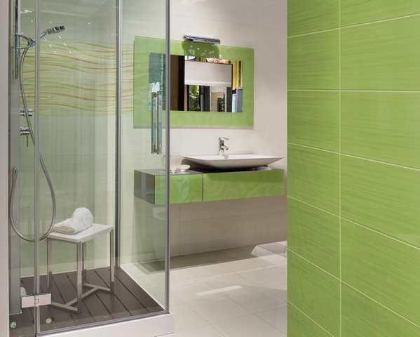Retro badrum - grönt badrum