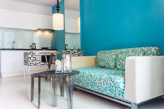 Små sovrum - delat kök & vardagsrum