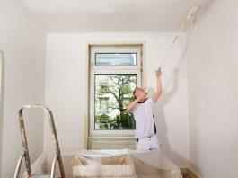 Måla innertak innan väggarna