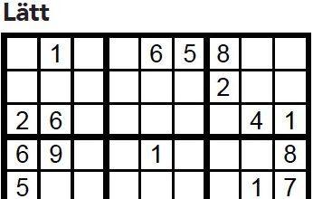 Sudoku Villaliv nr 2, 2017