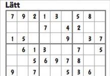Sudoku nr 1