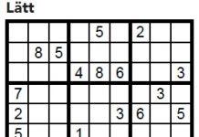 Sudoku Villaliv nr 3, 2017