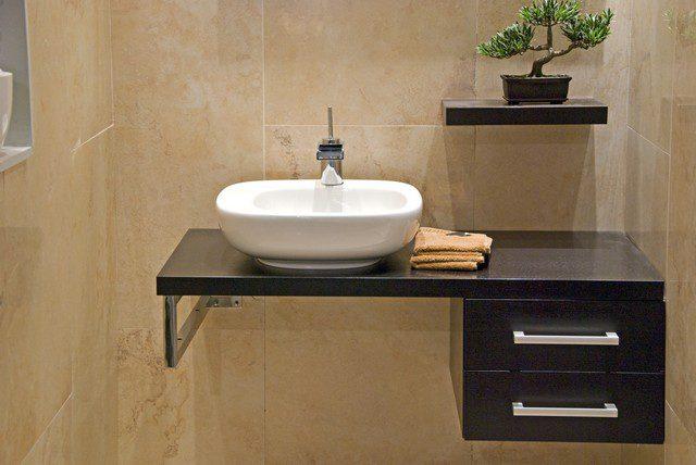 fristående handfat till badrummet