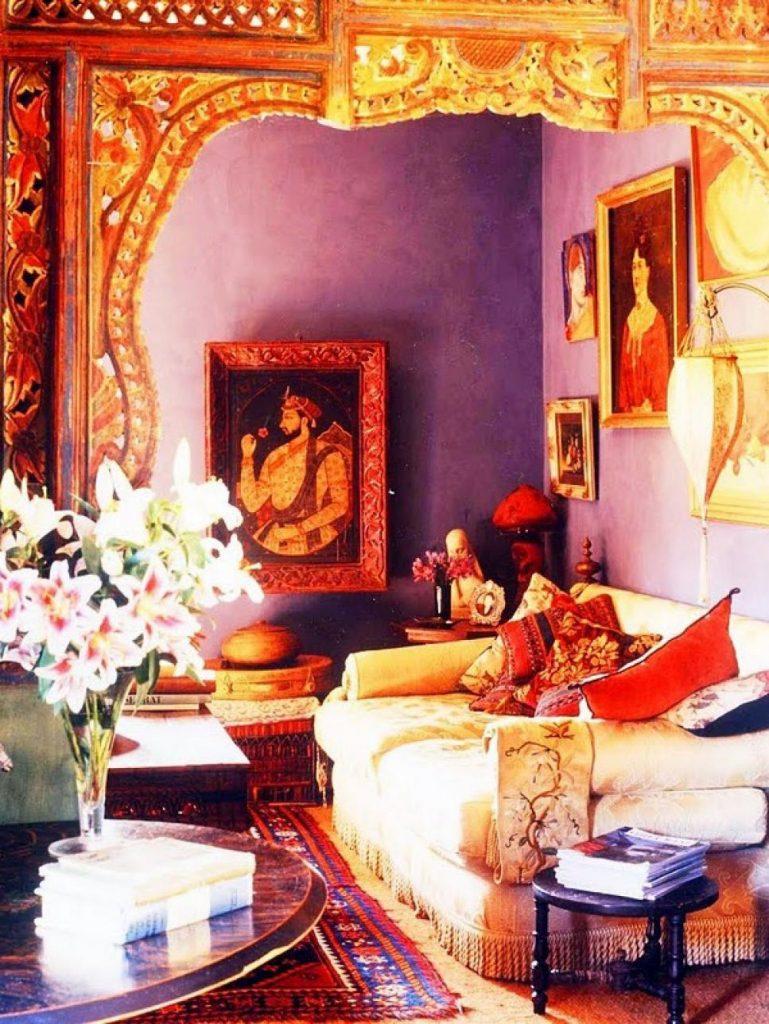 indisk inredning färg