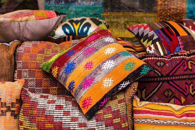 Indisk inredning textilier