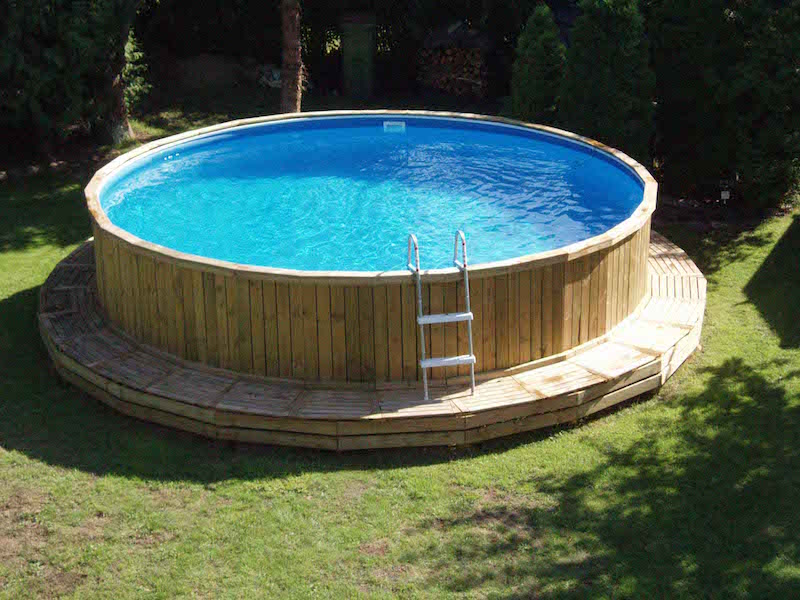 Pool rund affordable azuro rund with pool rund cool for Garten pool tiefe
