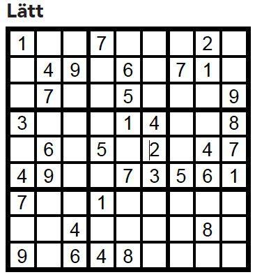 Sudoku Villaliv nr 4, 2017