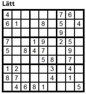 Sudoku Villaliv nr 5, 2017