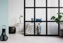 Dela av rum med vägg med gips, lättbetong eller glas