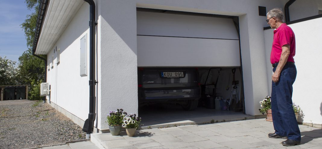 enkelgarage i betong